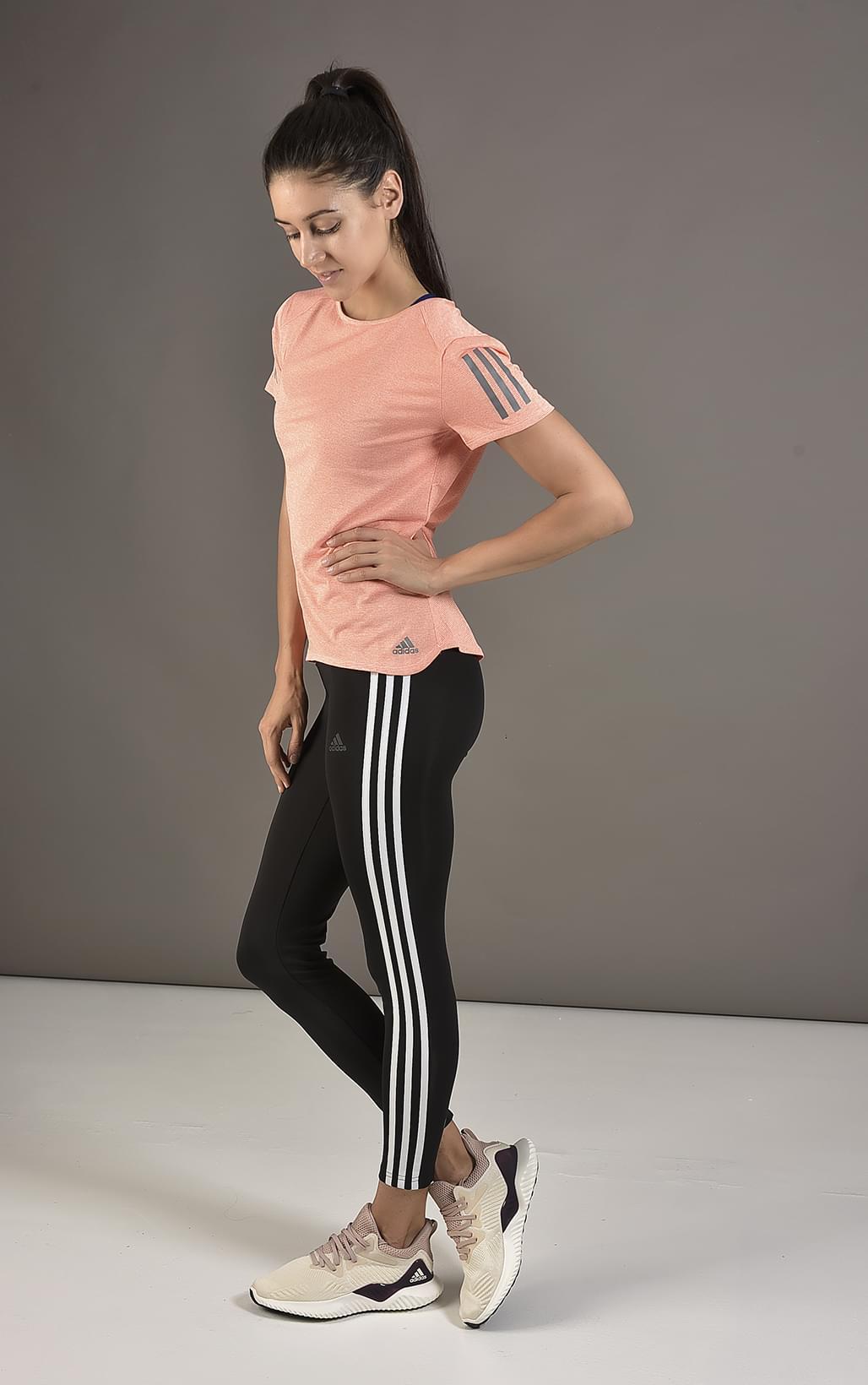 dac91eb777 Adidas PERFORMANCE D2M RR 3S LONG. Női fitness nadrág